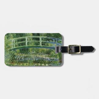 Etiqueta Para Maletas Claude Monet - puente japonés