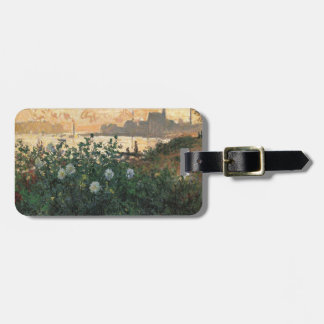 Etiqueta Para Maletas Claude Monet - Riverbank florecido Argenteuil