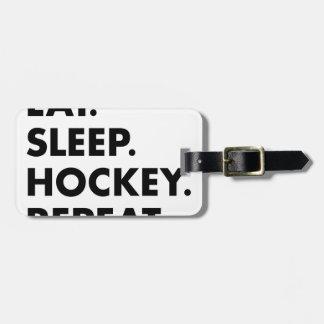 Etiqueta Para Maletas Coma la repetición del hockey del sueño