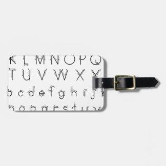 Etiqueta Para Maletas Cómo formar sus letras - escritura del alfabeto