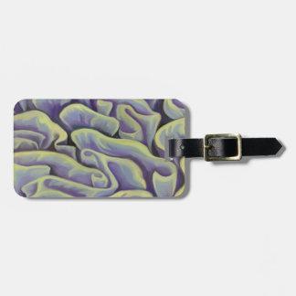 Etiqueta Para Maletas Coral verde y púrpura