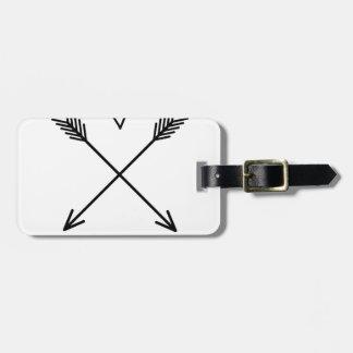 Etiqueta Para Maletas Corazones y flechas