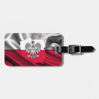 Etiqueta Para Maletas Correa polaca del equipaje de la bandera