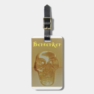 Etiqueta Para Maletas Cráneo de Berserker
