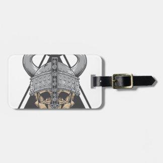 Etiqueta Para Maletas Cráneo de Viking