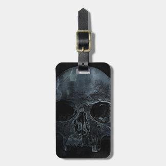 Etiqueta Para Maletas Cráneo esquelético médico gótico de la radiografía