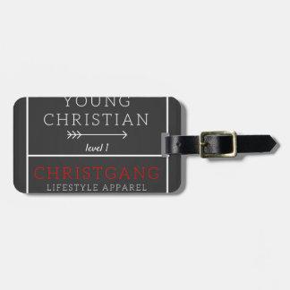 Etiqueta Para Maletas Cristiano joven - nivel 1