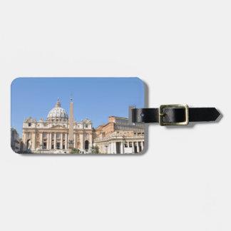 Etiqueta Para Maletas Cuadrado de San Pedro en Vatican, Roma, Italia