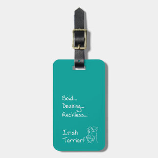 Etiqueta Para Maletas Dashing Terrier irlandesa