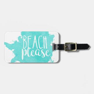 Etiqueta Para Maletas De la playa blanco por favor