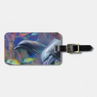 Etiqueta Para Maletas Delfínes encantados