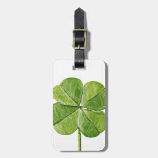 Etiqueta Para Maletas Día afortunado verde de San Patricio del trébol