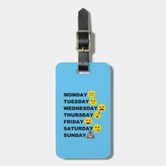 Etiqueta Para Maletas Días de Emoji