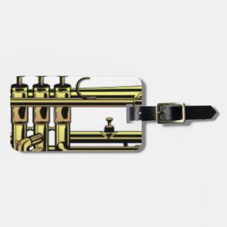 Etiqueta Para Maletas Dibujo animado de la trompeta