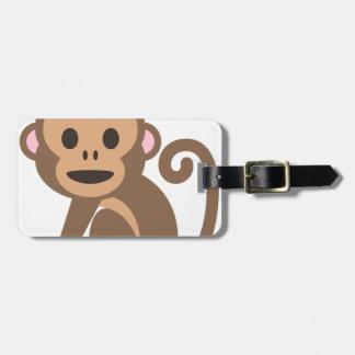 Etiqueta Para Maletas Dibujo animado feliz del mono