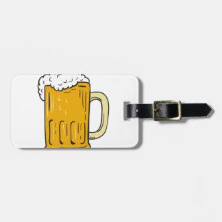 Etiqueta Para Maletas Dibujo de la taza de cerveza