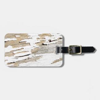 Etiqueta Para Maletas Diseño de madera rústico del vintage
