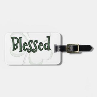 Etiqueta Para Maletas Diseño del día de St Patrick bendecido