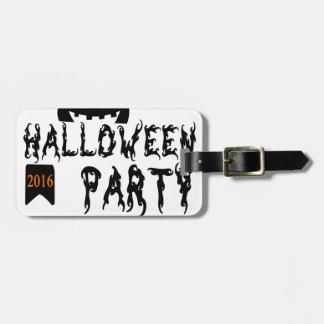 Etiqueta Para Maletas Diseño del fiesta de Halloween