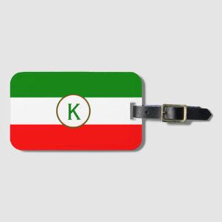 Etiqueta Para Maletas Diseño italiano de la bandera de Italia con sus