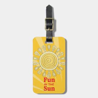 Etiqueta Para Maletas Diversión en el Sun