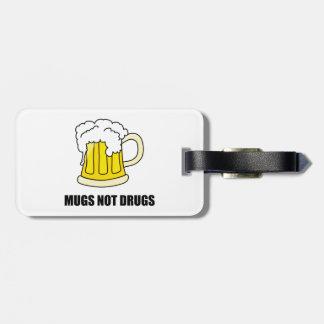 Etiqueta Para Maletas Drogas de las tazas no