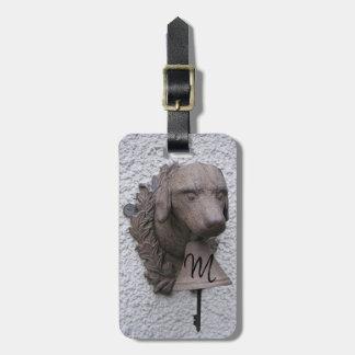 Etiqueta Para Maletas El año original 2018 del perro de la campana