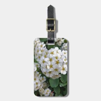 Etiqueta Para Maletas El brillar intensamente de las flores blancas