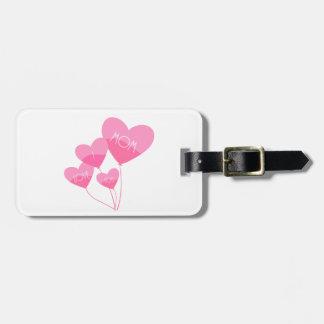 Etiqueta Para Maletas el corazón rosado hincha te quiero a la mamá