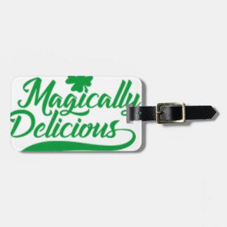 Etiqueta Para Maletas El día de St Patrick mágico delicioso