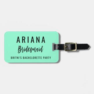 Etiqueta Para Maletas El equipaje del fiesta de Bachelorette marca favor