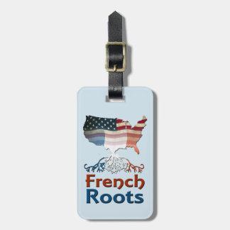 Etiqueta Para Maletas El francés americano arraiga la plantilla de la