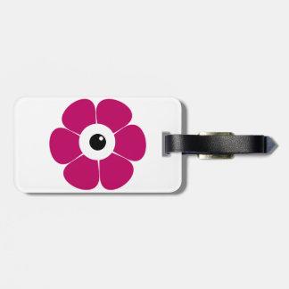 Etiqueta Para Maletas el ojo de la flor rosada