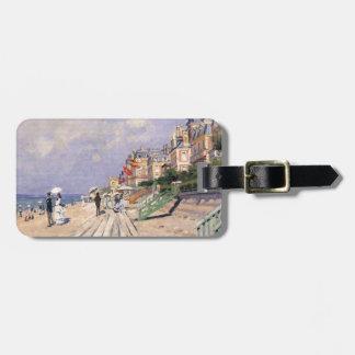 Etiqueta Para Maletas El paseo marítimo en Trouville Claude Monet