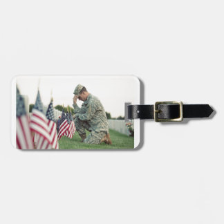 Etiqueta Para Maletas El soldado visita sepulcros el Memorial Day