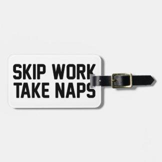 Etiqueta Para Maletas El trabajo del salto toma siestas