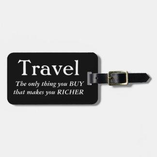 Etiqueta Para Maletas El viaje le hace más rico