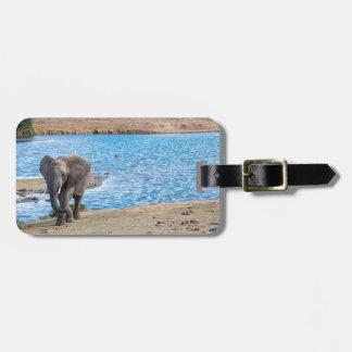 Etiqueta Para Maletas Elefante en el lago