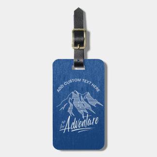 Etiqueta Para Maletas Encima para de las montañas ID358 de la aventura