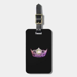 Etiqueta Para Maletas Equipaje de la corona de la orquídea de Srta.
