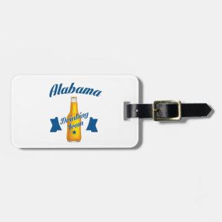 Etiqueta Para Maletas Equipo de consumición de Alabama