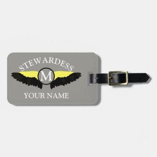 Etiqueta Para Maletas Equipo de la cabina del aeroplano de Stewardes