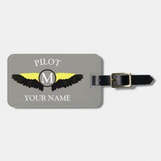 Etiqueta Para Maletas Equipo de la cabina del piloto o del aeroplano