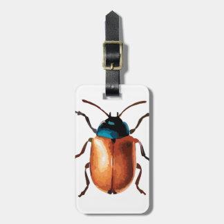 Etiqueta Para Maletas Escarabajo azul