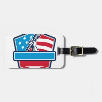 Etiqueta Para Maletas Escudo de la bandera de los E.E.U.U. de la llave