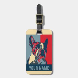 Etiqueta Para Maletas Esperanza de Boston Terrier inspirada