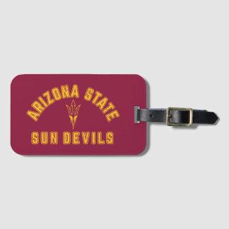 Etiqueta Para Maletas Estado el | Sun Devils de Arizona - retros