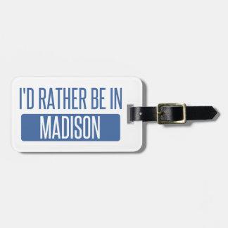Etiqueta Para Maletas Estaría bastante en el AL de Madison