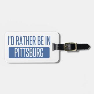 Etiqueta Para Maletas Estaría bastante en Pittsburg