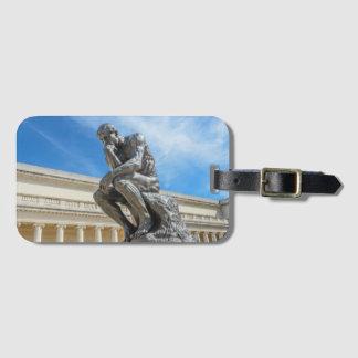 Etiqueta Para Maletas Estatua del pensador de Rodin